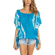 Women's Go With The Sun Cover-up - Blue Patterned