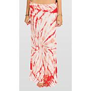 Women's Midway Love Maxi Skirt - Orange