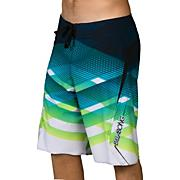 Men's Transverse Boardshort - Blue Patterned