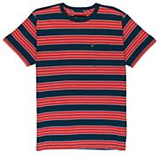 Men's Vital Knit SS Tee - Red Patterned