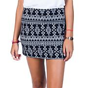 Women's Sweet Armor Mini Skirt - Black Patterned