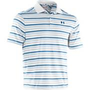 Men's Performance Stripe Polo - White