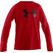Boys' Big Logo Long Sleeve Tech Tee - Red