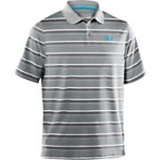 Men's UA Performance Heather Stripe Polo - Gray