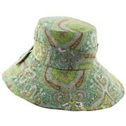 Women's Cotton Printed Big Brim Hat