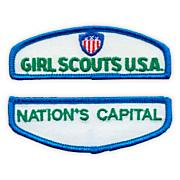 Jr Girl Scout Iron-On Council Identification Set-Northern Ca