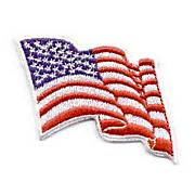 American Flag Wavy Design Iron-On Patch