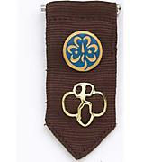 Girl Scout Brownie Insignia Tab - Brown