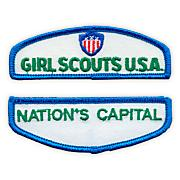 Jr Girl Scout Iron-On Council Identification Set-Central Ca South