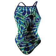Women's Aquasites Flyback 1PC - Blue Patterned