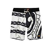 Men's Brudda Boardshort - White Patterned