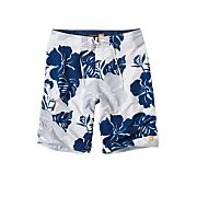 Men's Betta Bing Boardshort - Blue Patterned