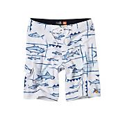 Men's Keep It Reel Boadrshort - White Patterned