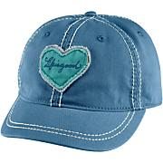 Women's Tattered Heart Shortie Cap - Blue