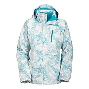 Women's Snow Cougar Print Jacket - White