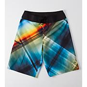 Boys' Millenia Crosshatch Boardshort - Pattern
