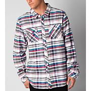 Men's Richards L/S Woven Shirt-White