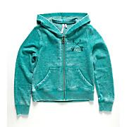 Girls' Greece Brnout Flc Zip Hoody - Green