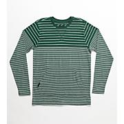 Boys' Helm Stripe Long Sleeve Top - Green Patterned