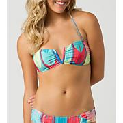Women's Escape V-Bandeau Swim Top - Pattern