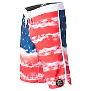 Men's Freedom Boardshort - Red Patterned