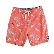 Men's Budd Boardshort - Red Patterned