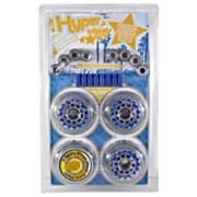 Hyperlite 80mm Inline Skate Wheels - Clear - 4pk w/ Bearings