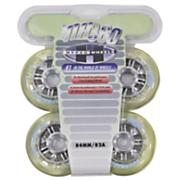 NX360 84mm Inline Skate Wheels - Clear - 4pk