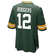 Youth Packers Rodgers Home Jersey - Dark Green /  Moss