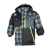 Lil Boys' Superpipe Jacket - Black Patterned
