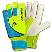 Response Junior Soccer Goalkeeper Gloves – Slime/Cyan/Power Green