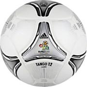 Euro 2012 Final Glider Soccer Ball – White/Black/Silver Metallic