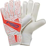 F50 Training Soccer Goalie Gloves – White/Infrared/Bright Blue