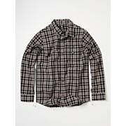 Boy's Rogie Long Sleeve Woven Shirt - Black Patterned