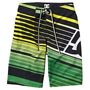Boys' Exahust Boardshort - Green Patterned