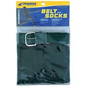 Intermediate Baseball Belt And Sock Combo - Green