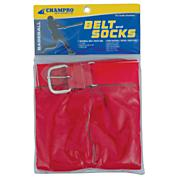 Intermediate Baseball Belt And Sock Combo - Scarlet