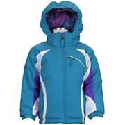 Girls' Round Off Jacket - Turquoise / Aqua