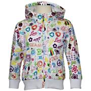 Girls' Sweatshirt - White Patterned