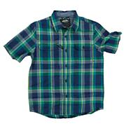 Boys' Averill Short Sleeve Woven Shirt - Turquoise / Aqua