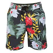 Men's Flammo Cool by the Pool Boardwalk Short - Black Patterned