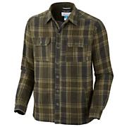Men's Noble Falls Omni-Heat Shirt Jacket - Green Patterned