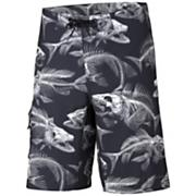 Men's PFG Offshore Boardshort - Black Patterned
