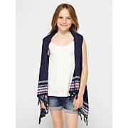 Girls' Overtime Sweater Vest - Navy / Dark Blue