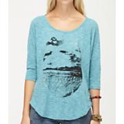 Women's Beach Bling 3/4 Sleeve Tee - Blue