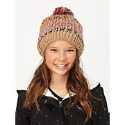 Girls' Berry Beanie with Pom