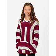 Girls' Broken Powder Stripe PO Hoodie - Pink