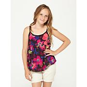 Girls' Rain Drop Floral Tank - Pattern