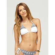 Women's Radiate Love Tiki Tri Swim Top - White and Black