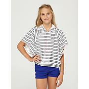 Girls' Warm Up Poncho Hoody - Stripe